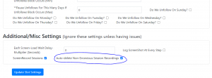 Auto-Deletion of Session Recording Option